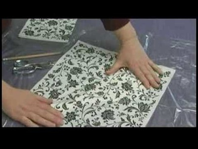 Making Hand Mirrors : Designing a Decoupage Hand Mirror