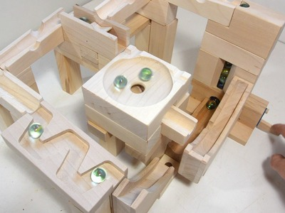 Marble run blocks - simplified construction