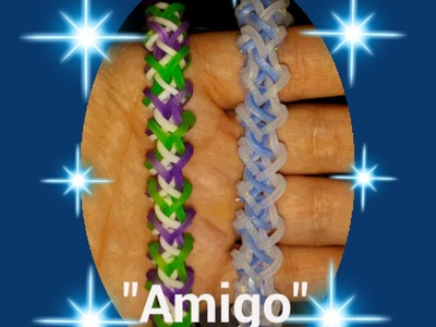 "New ""Amigo"" Hook Only Rainbow Loom Bracelet. How To Tutorial"