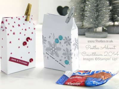 Pootles Advent Countdown #9 Mini Box from Project Life Card Tutorial