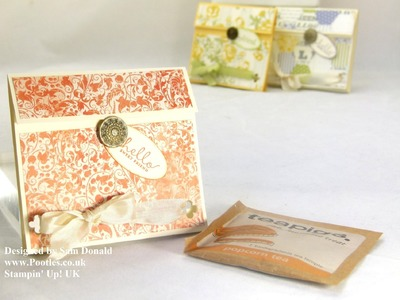 Stampin Up UK Tea Bag Pouch Tutorial