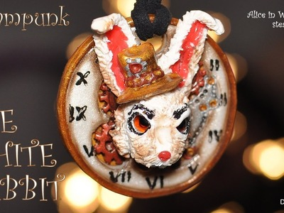 Steampunk-ish Alice In Wonderland: The White Rabbit - charm [TUTORIAL]