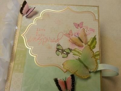 Vellum Butterfly Tutorial part 3 Butterfly Garden in a Box mini album