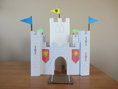 3D Paper Castle Part 2: Keep & Pennants