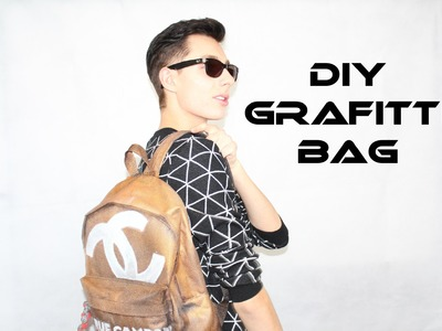 CHANEL INSPIRED GRAFITTI BAG! Fashion DIY Part 2