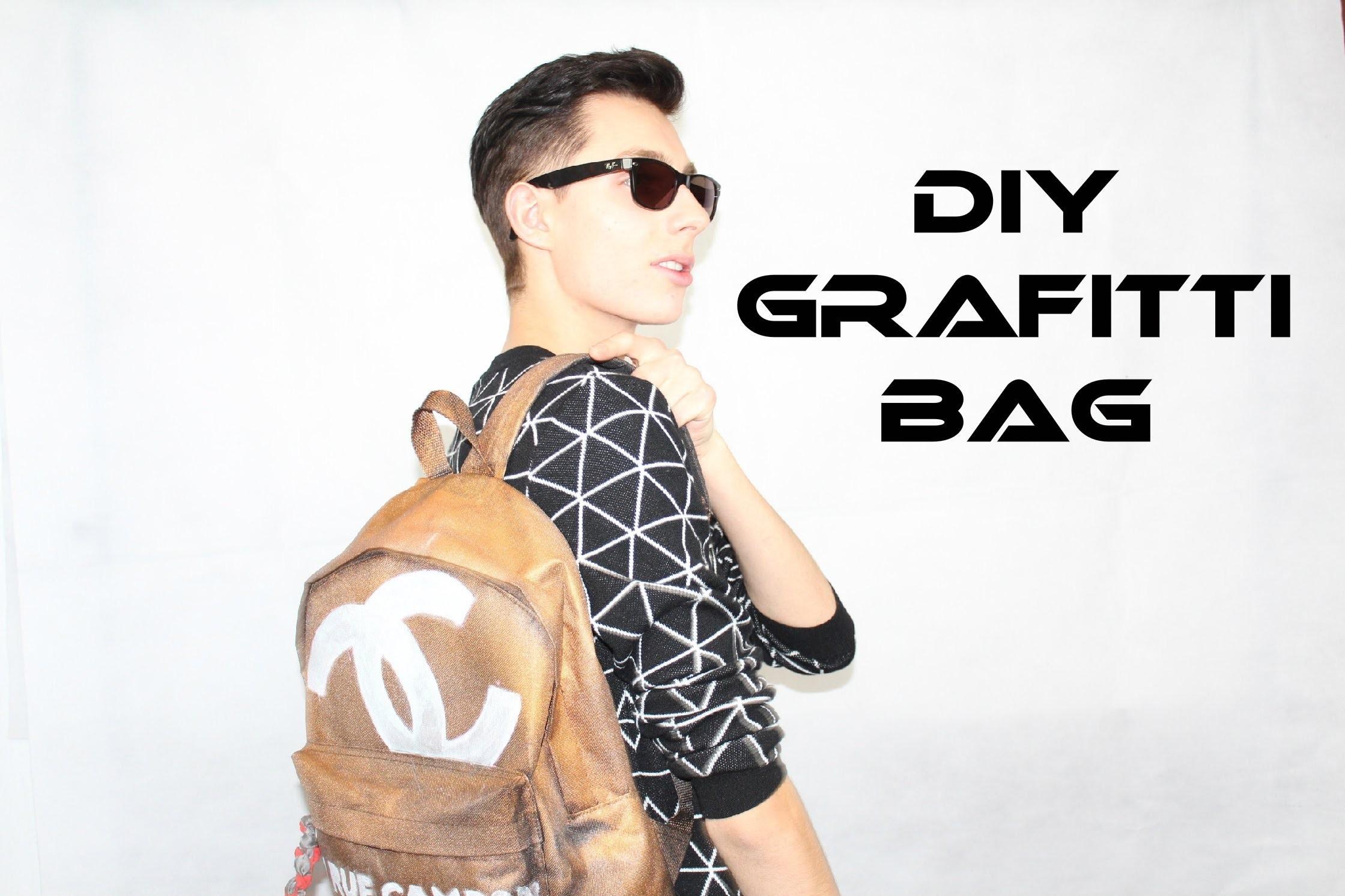 CHANEL INSPIRED GRAFITTI BAG! Fashion DIY Part 2
