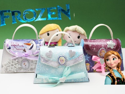 ✿ Disney Frozen Princess Elsa Anna Olaf Paper Purse ✿ Unboxing Frozen Making Your Own Paper Purse