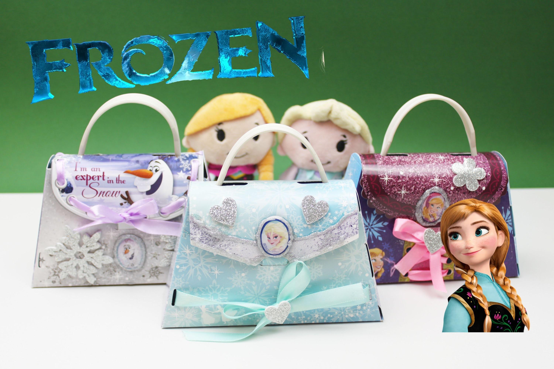 ✿ Disney Frozen Princess Elsa Anna Olaf Paper Purse ✿ Unboxing Frozen Making Your Own Paper Purse