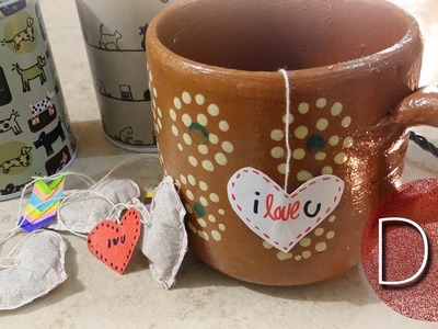 DIY: bolsas de té en forma de corazón ♥