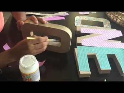 DIY cardboard letters| how to: make decorative letters