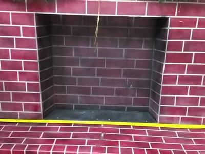 DIY: Fake Cardboard Fireplace.