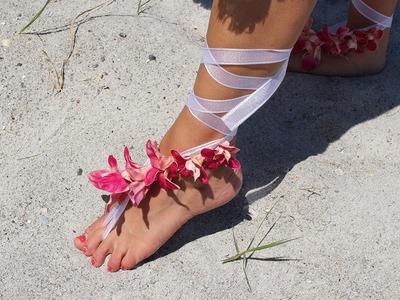 DIY Flower Sandal - Beach Wedding Sandal