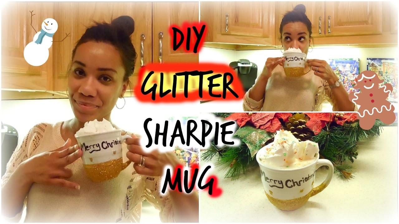 DIY Glitter Sharpie Mug ~ 12 Days of DIY's