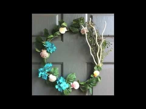 DIY - How to make a Door Wreath - Sea Shells