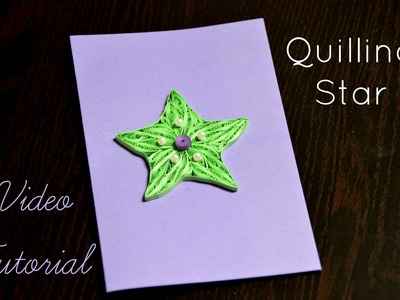 DIY Quilling Star Tutorial - Made from paper