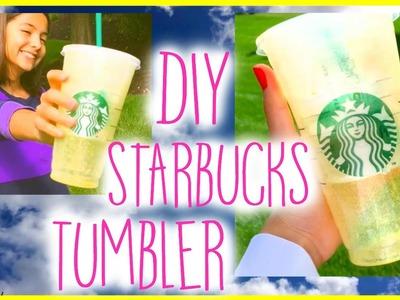 DIY Starbucks Inspired Tumbler!!   Leah and Sydney