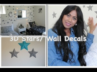 DIY Stars Wall Decals.3D Stars - AlyssaFaye