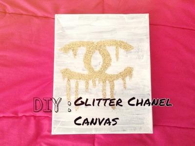 DIY Wall Art | Glitter Chanel Canvas