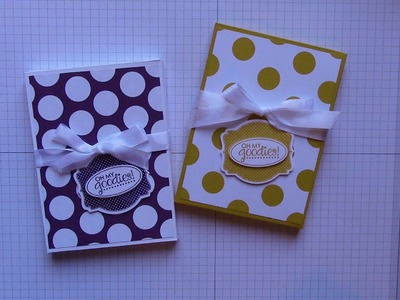 Envelope Box made with Stampin' Up envelope punch board and designer paper