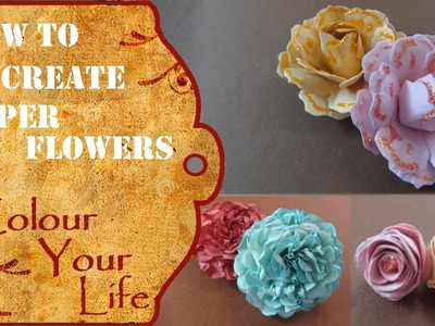 How to create Paper Flowers for a Scrapbook Album