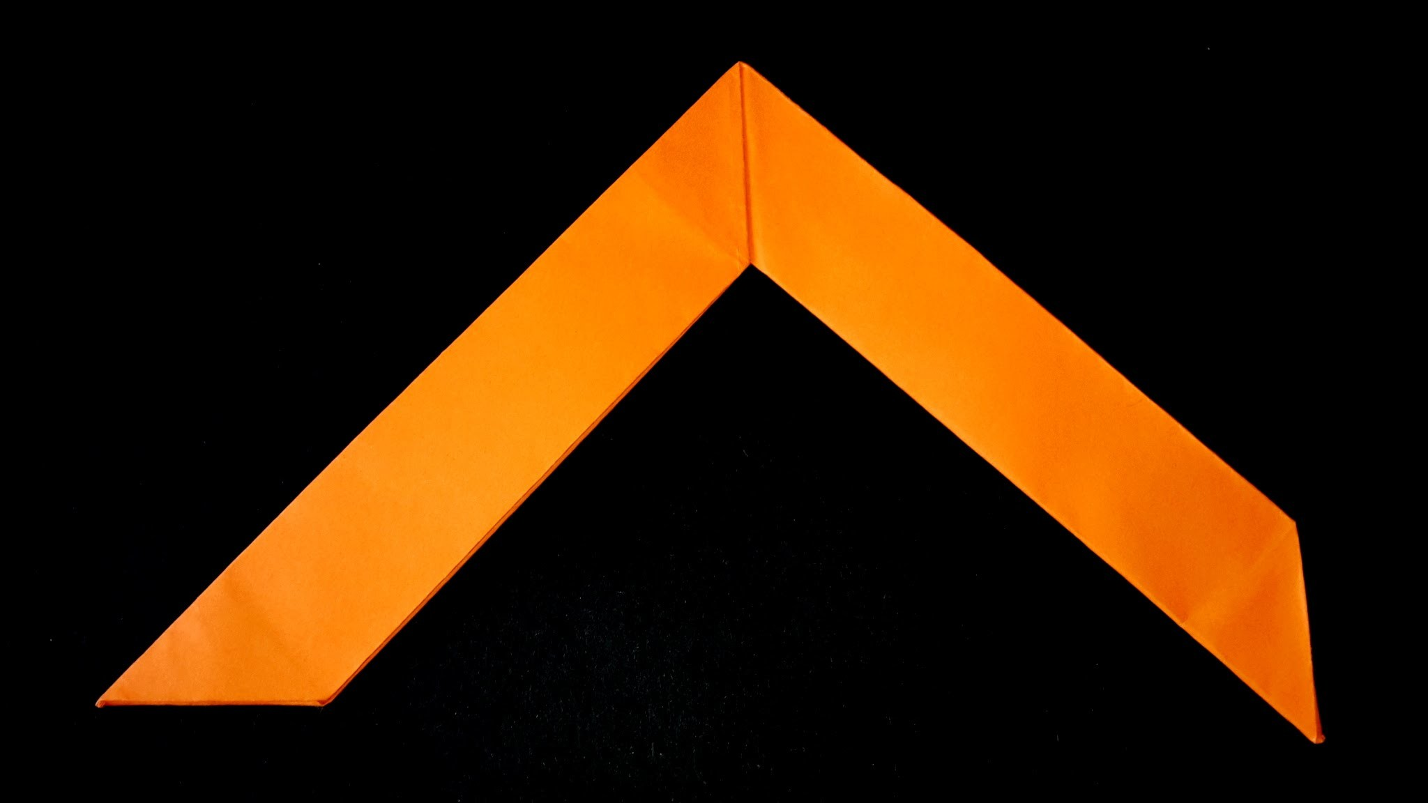 How to make a paper boomerang-Origami Tutorial