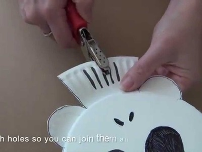 How to make a paper plate skeleton