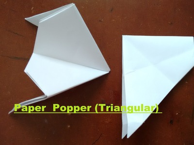 How to make a paper popper - triangular (easy and loud)