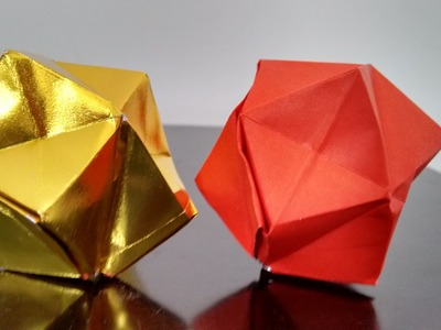 How to make a spiky balloon. paper octahedron
