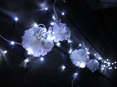 Lampki jak cotton ball  lights. bibuła diy