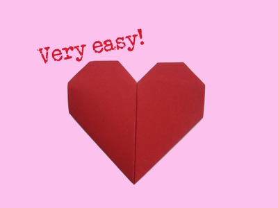 Learn how to fold a paper heart - Origami - Folding instruction
