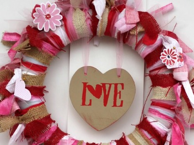 Make a Fabric Tied Valentine's Wreath - DIY Home - Guidecentral