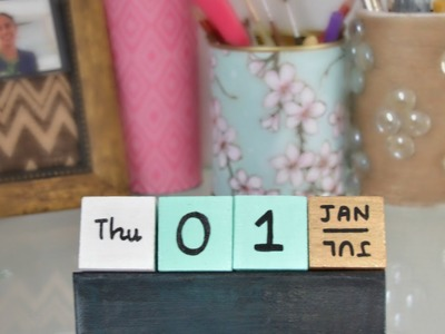 Make a Fun Cubes Calendar - DIY Home - Guidecentral