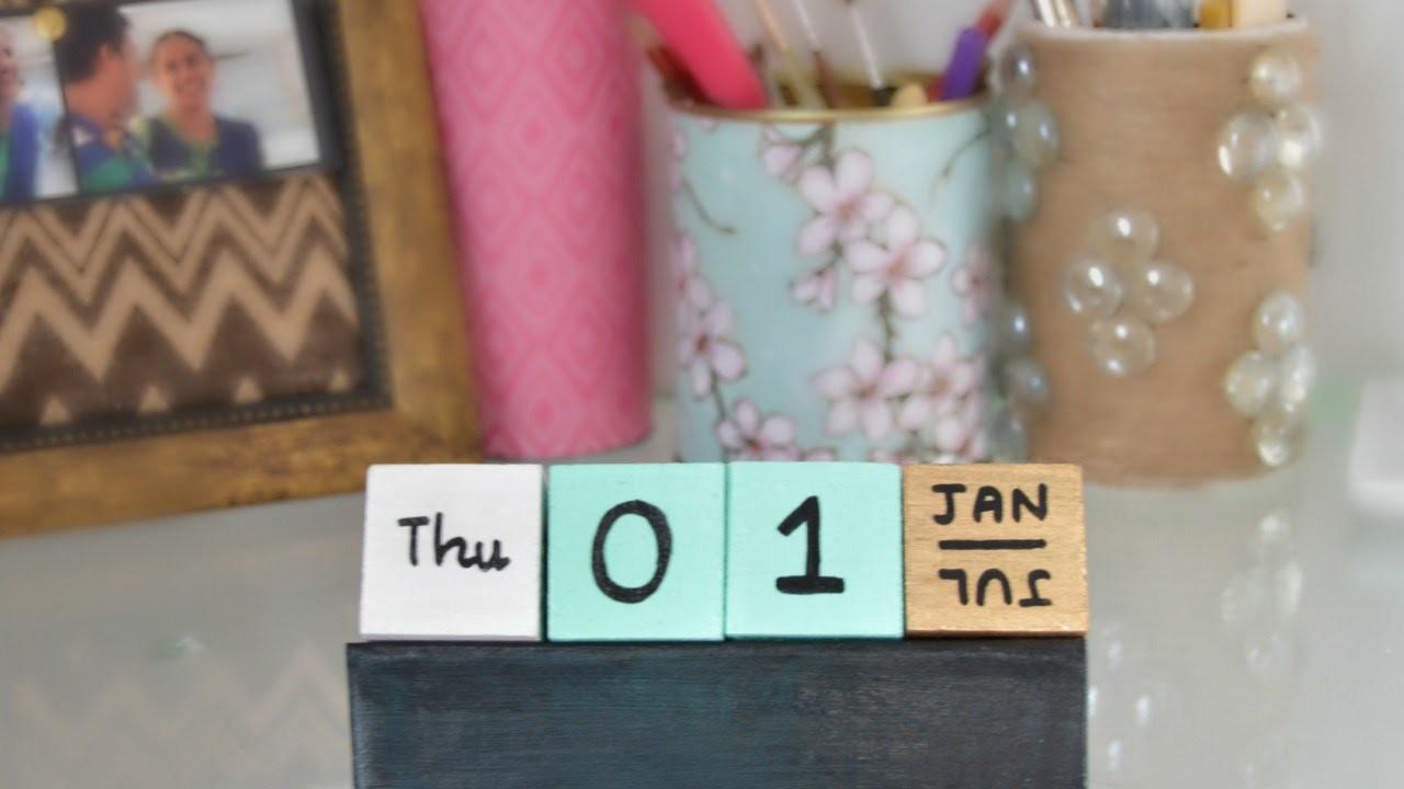 Make a Fun Cubes Calendar - DIY Home - Guidecentral