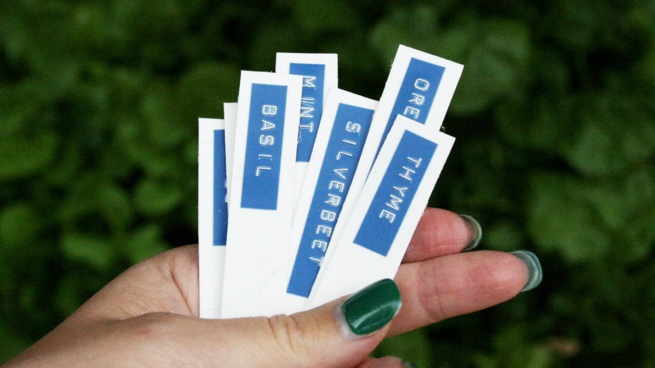 Make Waterproof Recycled Garden Markers - DIY Home - Guidecentral