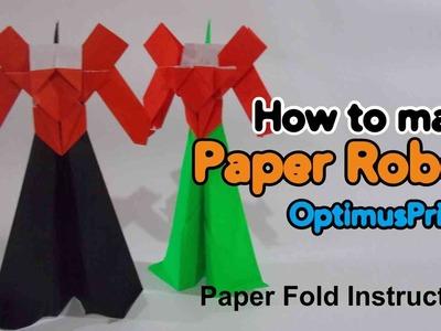 Paper Robot Optimus Prime Origami Instruction