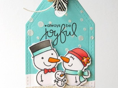 {Paper Smooches} Joyful Tag + Tracey McNeely's 25 Days of Christmas Tags
