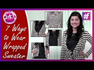 7 Ways to Wear Wrapped Sweater - DIY Winter Outfit Ideas | By Mehak