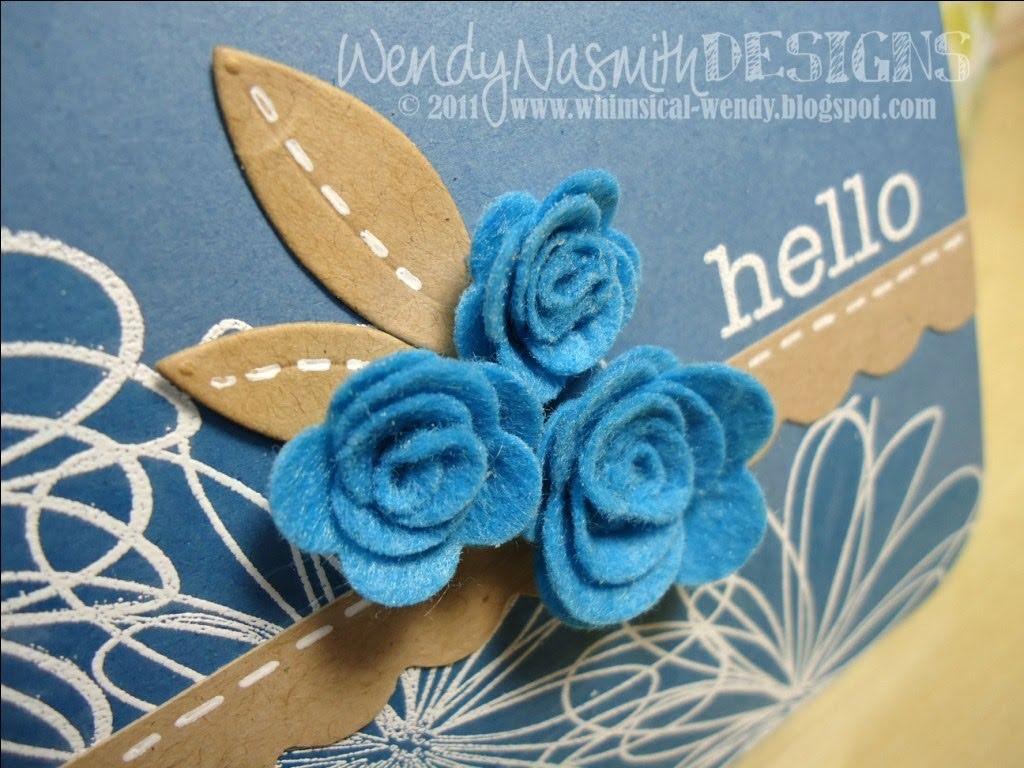 Card Tutorial & MFT Mini Rolled Roses Die-namics demo - Hello!