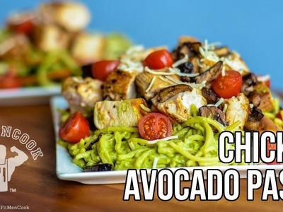 Chicken Avocado Pasta Recipe for Fat Loss & Hardgainer. Pasta de Aguacate con Pollo