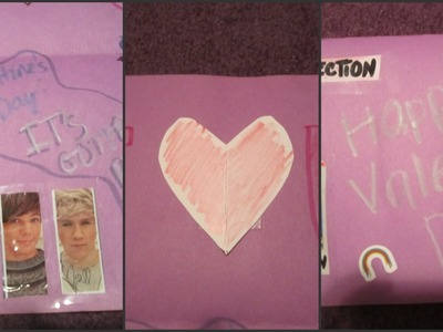 DIY 1D Valentine's Day Card + Candy Holder!
