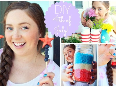 DIY 4th of July! Healthy Treats + Decor!