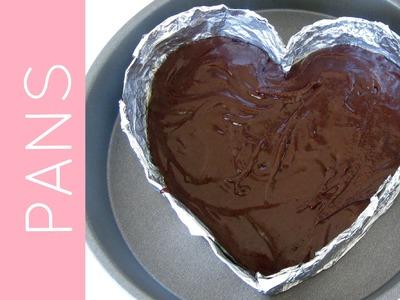 DIY Disposable Baking Pans (heart shaped foil pans, parchment cheesecake pans & more!)
