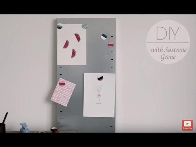 DIY: Fridge magnets by Søstrene Grene