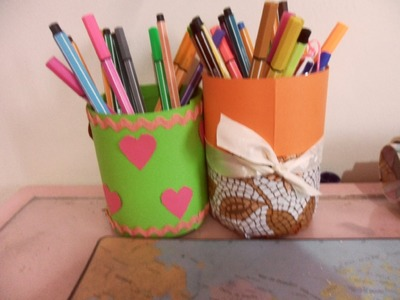 DIY: how  to make a pencil holder