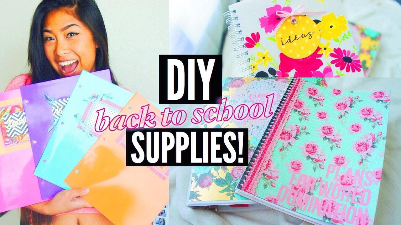 DIY SCHOOL SUPPLIES FOR BACK TO SCHOOL 2015!