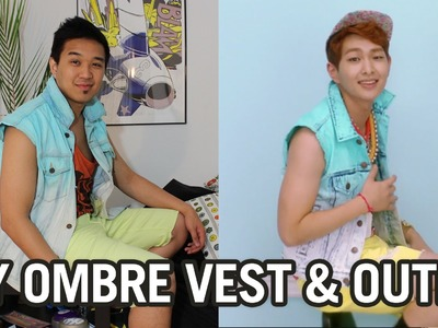 DIY: SHINee's Dream Girl Ombre Jean Vest & Outfit