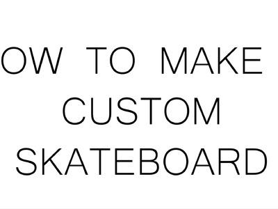 DIY Skateboard. Wooden Penny Board