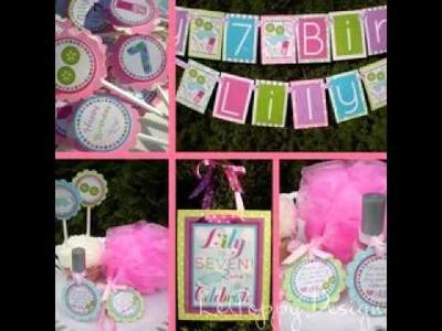 DIY Spa birthday party decorating ideas