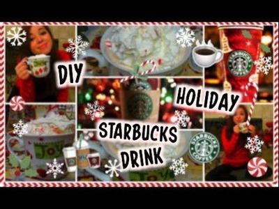 DIY Starbucks Holiday Drink: White Peppermint Mocha