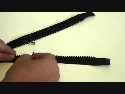 Easy way to shorten a separating zipper